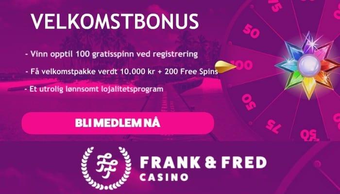 frank fred casino anmeldelse Nettcasinobonus.com