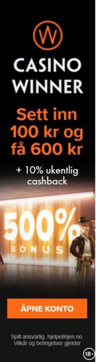 500 % bonus casino winner
